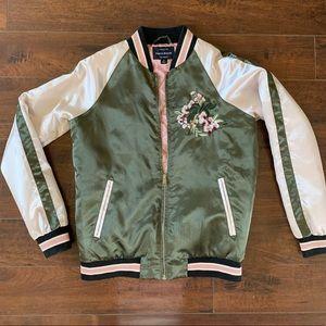 *Boutique* Hand stitched bomber jacket